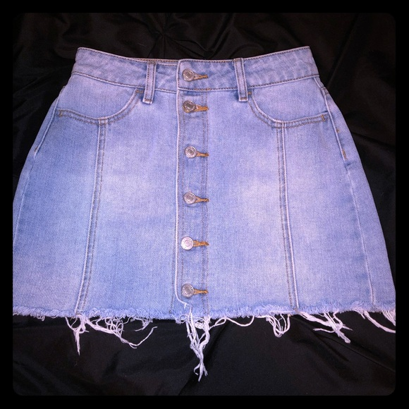 PacSun Dresses & Skirts - PacSun button up jean skirt